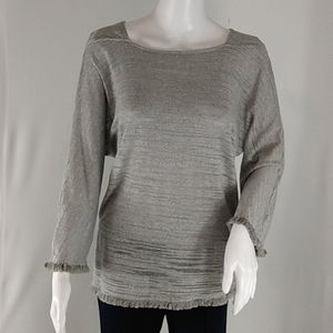 Hayden Burnout Gray Laced Sides Tunic